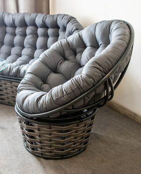 купить Кресло Papasan серый в Кишинёве