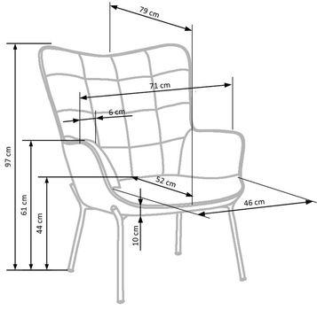 купить Кресло CASTEL (серый) в Кишинёве