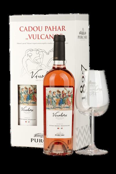 купить VINOHORA FETEASCĂ NEAGRĂ & MONTEPULCIANO + PAHAR VULCANO в Кишинёве
