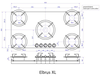 Газовая панель Reginox Elbrus XL 5-Pitt