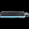 купить Клавиатура A4Tech F1010 Kit Black/Blue в Кишинёве