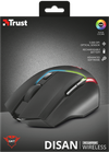 Wireless Mouse Trust GXT 161 Disan Gaming, Black