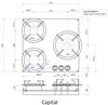 Газовая панель Reginox Capital 3-Pitt