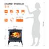 купить Печь чугунная KAWMET Premium S11 8,5 kW в Кишинёве