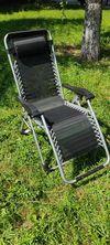 Шезлонг - Кресло, раскладное, с подголовником квадратный профиль