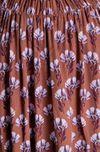 Блуза ZARA Коричневый в цветок zara 2095/125/703