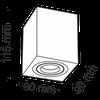 купить Спот накладной C017CL-01S в Кишинёве