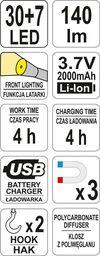 купить Переносной фонарь с аккумулятором YATO 37 / 7LED YT-08507 в Кишинёве