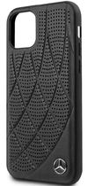 купить Чехол для смартфона CG Mobile Mercedes Perforated Leather Back Cover for iPhone 11 Black в Кишинёве