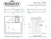 купить Раковины над стиральными машинами V51Q17 в Кишинёве