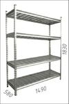Стеллаж оцинкованный металлический Gama Box 1490Wx580Dx1830 Hmm, 4 полки/МРВ