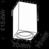 купить Спот накладной C011CL-01W в Кишинёве