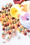 Lanț acrilic din bile colorate, 42 cm