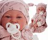 Кукла младенец с пустышкой розовая 40 см Код 3374