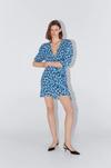 Платье ZARA Синий в цветочек 7728/030/800