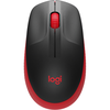 Wireless Mouse Logitech M190 Full-size, Red