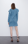 Платье ZARA Голубой в горошек 0219/302/427