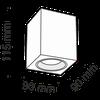 купить Спот накладной C013CL-01W в Кишинёве