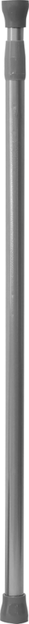 Карниз для шторки раздвижной 70-120cm, алюминиий, хром