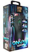 Игровая мышь Qumo Onyx RGB, оптическая, 800-2400 dpi, 3 кнопки, симметричная, RGB, USB