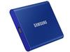 .500 ГБ (USB3.2 / Type-C) Samsung Portable SSD T7, синий (85x57x8 мм, 58 г, R / W: 1050/1000 МБ / с)