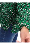 Блуза TOP SECRET Зеленый с принтом sbd1088