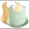 Набор нагрудников силиконовых BabyBjorn Powder Yellow / Powder Green