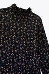 Платье ZARA Черный в цветочек 2183/257/800