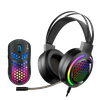 Combo Mouse+Headset Marvo MH01 Gaming, Black