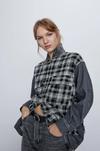 Блуза ZARA Черно-белый 5899/070/802