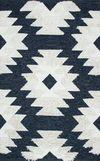 купить Ковёр ручной работы E-H AFRO KILIM, AFR 01 NAVY WHITE 120*180 в Кишинёве