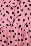 Платье ZARA Розовый в горошек 1165/196/620