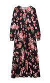 Платье Stradivarius Черный в цветочек 6274/625/001
