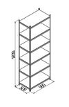 cumpără Raft metalic galvanizat cu placă din plastic Gama Box 900Wx505Dx1830H mm, 6 polițe/PLB în Chișinău