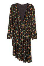 Платье H&M Черный с принтом