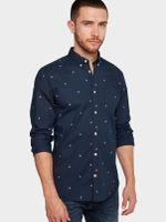Рубашка TOM TAILOR Темно синий с принтом 1012826 tom tailor