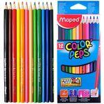 Карандаши цветные MAPED треугольные 12 шт