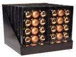 Набор шаров 15X45mm, 5матов, 10глянц, золотых, в коробке