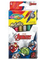 Набор из 6 цветных металлических маркеров - Colorino Disney Avengers