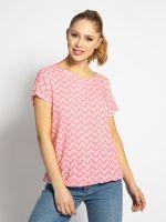 Блуза TOM TAILOR Розовый с принтом 1016181 tom tailor