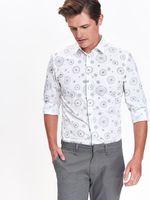 Рубашка TOP SECRET Белый с принтом