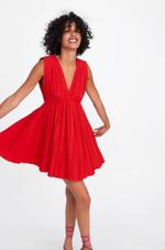 Платье ZARA Красный 7557/702/679