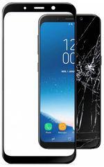 Защитное стекло Cellular  Samsung Galaxy A8 (2018) curved Black