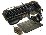 Gaming Keyboard & Mouse & Mouse Pad & Headset Canyon Argama, Military, USB/3.5mm