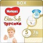 Трусики Huggies Elite Soft Mega 5 (12-17 kg), 76 шт. BOX