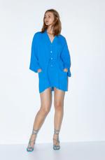 Блуза ZARA Синий 4043/242/407