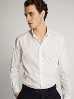Рубашка Massimo Dutti Белый с принтом 0107/124/250