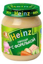 Пюре HEINZ Овощи с форелькой 120г (8 месяцев)