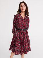 Платье RESERVED Фиолетовый в цветочек ye261-mlc
