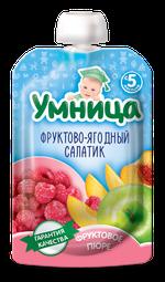 Пюре Умница фруктово-ягодный салат 100г с 5месяцев